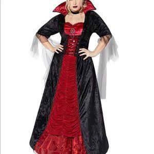 Adult Victorian Vampiress Plus Size